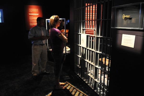 Gantt Center visitors in Civil Rights Gallery