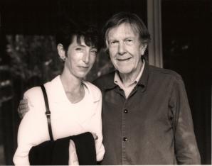 Laura Kuhn and John Cage.