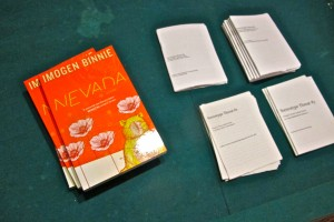 Nevada, a 2013 release from Topside Press, and Binnie's self-published 'zines on queer and trans-issues.