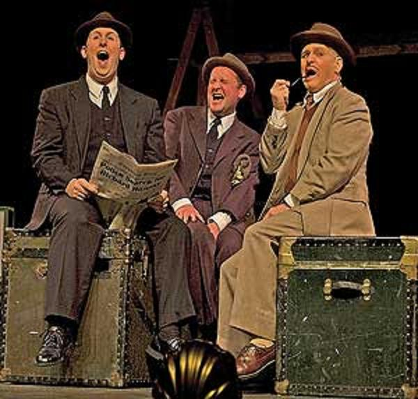 "Weathervane Playhouse, ""The 39 Steps,"" cast. Photo from www.akron.com"