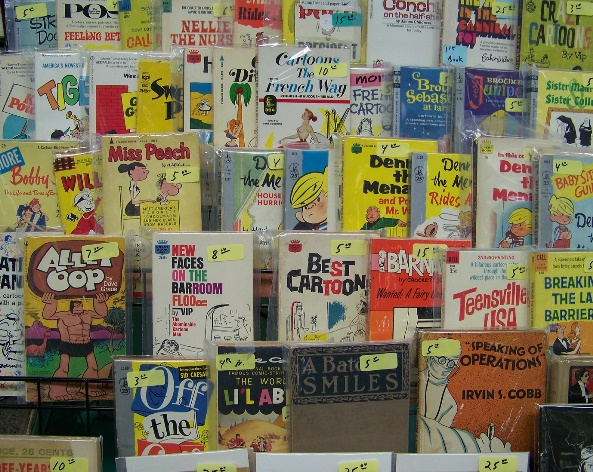 Vintage comics. Photo by Susannah Schouweiler.