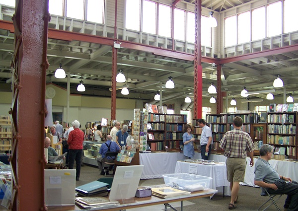 On site in the Progress Center for the 23rd Annual TC Antiquarian and Rare Book Fair. Photo by Susannah Schouweiler.