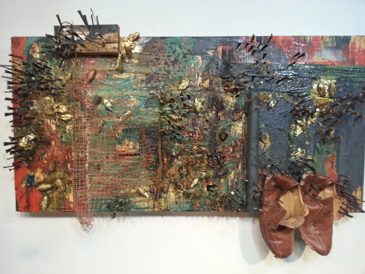 Mixed media painting by Jamele Wright.