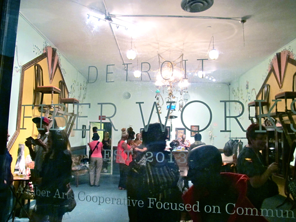 Detroit Fiber Works, a new addition to the strip and a welcome resource and venue for fiber artists.