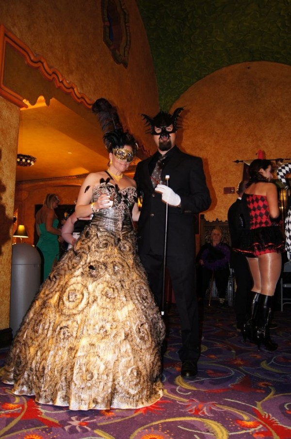 """Revelers at """"Masque of the Red Death,"""" Akron Civic Theatre, 2013."""