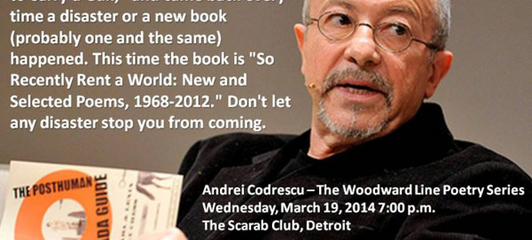 Upcoming this week at the Woodward Line Poetry Series.
