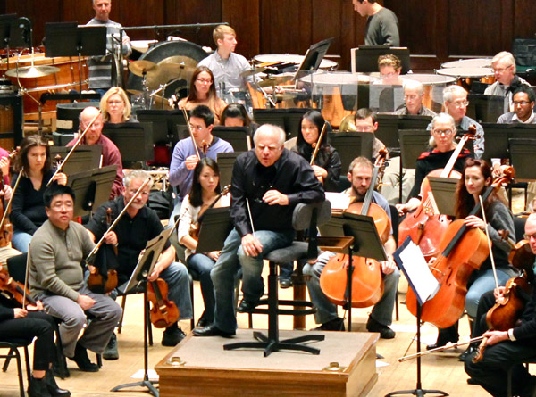 Slatkin would pause during an initial examination of difficult cues to advise each composer.