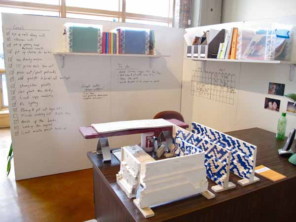 Tai's office space, recreated within Gallery 2.