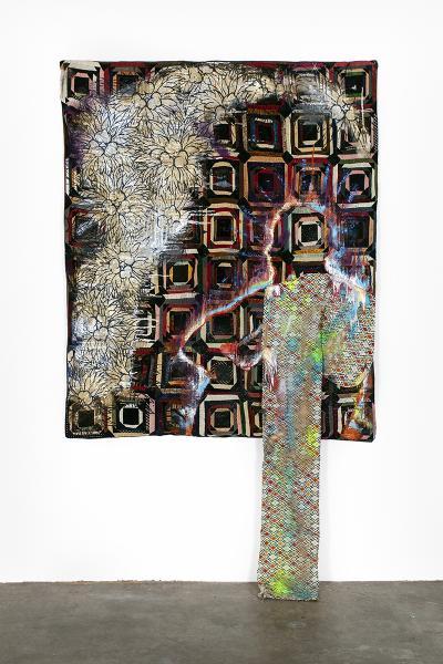 A Sanford Biggers quilt.