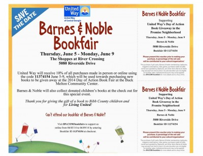 United Way of Central Georgia Barnes & Noble Bookfair flyer