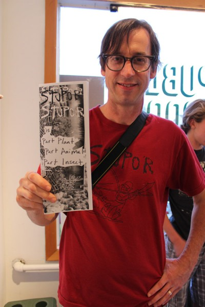Public Pool's man-on-the-scene, Steve Hughes, with the newest issue of Stupor, which premiered last month at the most recent Good Tyme Writers' Buffet.