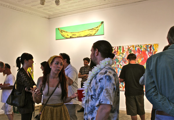 The opening-night crowd, soaking up the banana-flavored festivities.