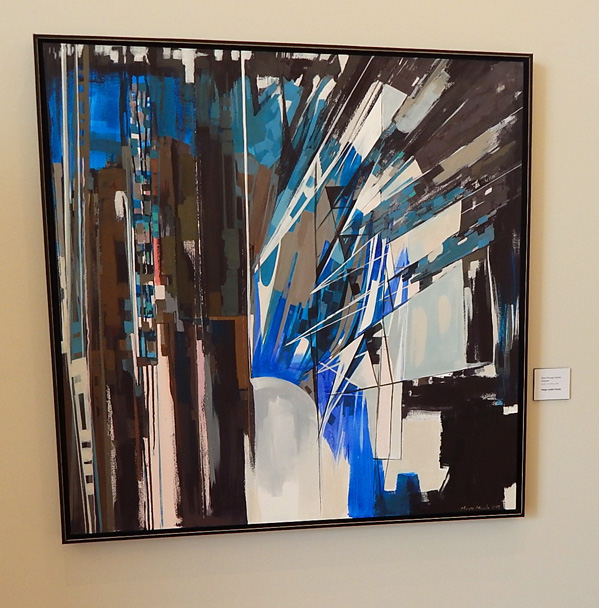 """""""Blue Chicago Series: Shadow"""" by Marge Loudon Moody 2013"""