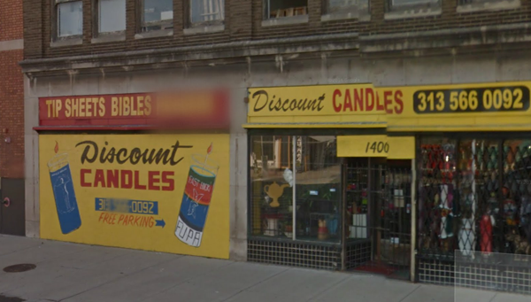 Discount Candles. Image courtesy of Google Maps.