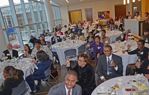 Guests toasting the founders. Photo courtesy of the Harvey B. Gantt Center