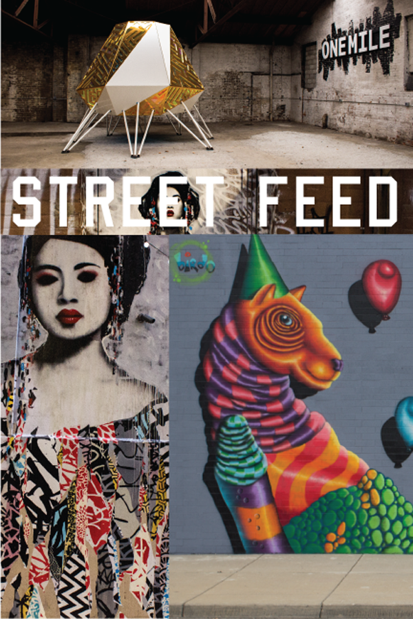 "Street Feed includes coverage of ""The Belt"" a new experimental space and art-filled alley behind the Z garage."