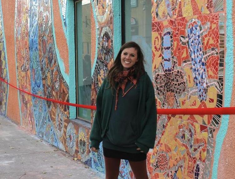Mosaic muralist Greta Mclain