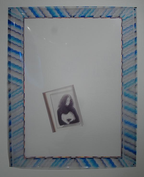 """Sara Greenberger Rafferty, """"Printed Frame with Ephemera."""""""