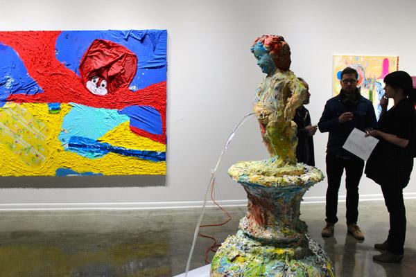 "Rajewski&squot;s ""Fountain"" and ""Umbrella Painting"""