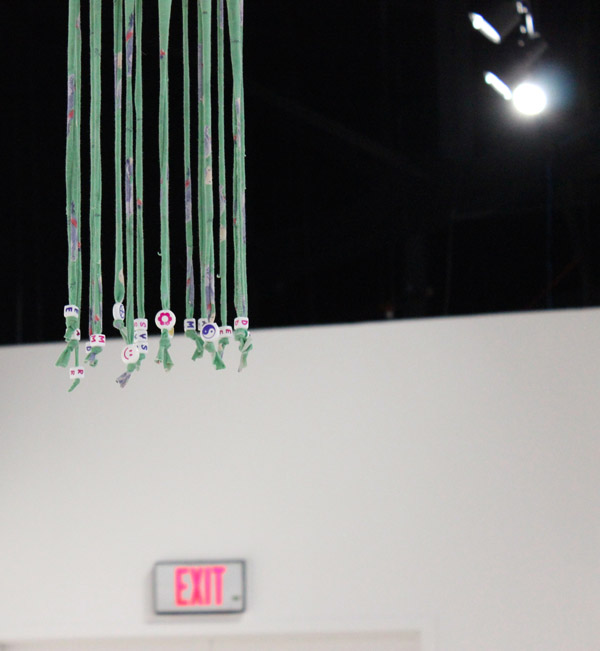 Up high: detail from one of Spaysky's creations.
