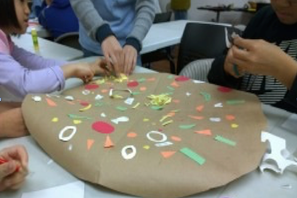 One lesson featured in our book is the Healthy Pizza Project, which uses collage to encourage creative expression and healthy eating. Watch our video tutorial.