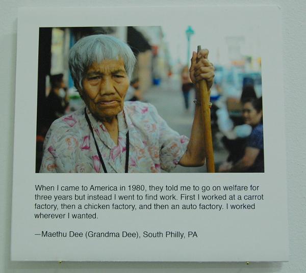 "Nema Etabar and Dennis Sikhanthat, ""Maethu Dee (Grandma Dee), South Philly, PA."""
