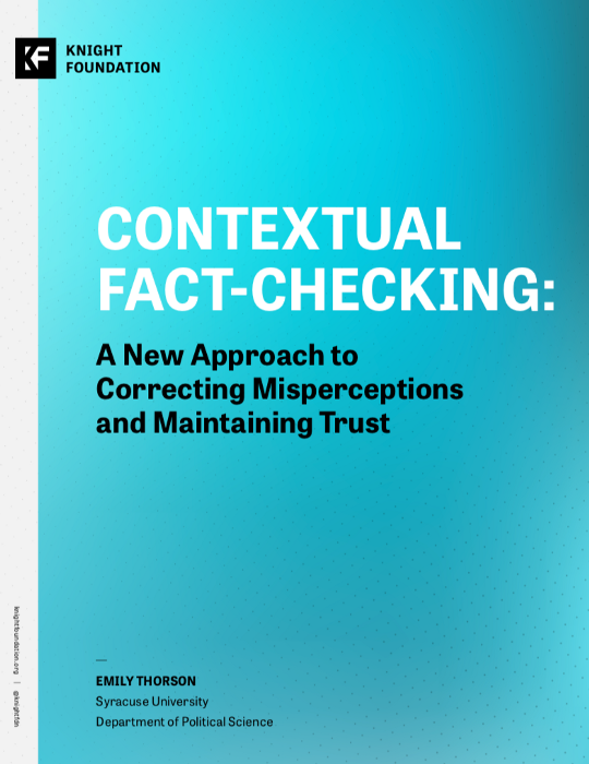 Contextual Fact-Checking: A New Approach to Correcting Misperceptions and Maintaining Trust