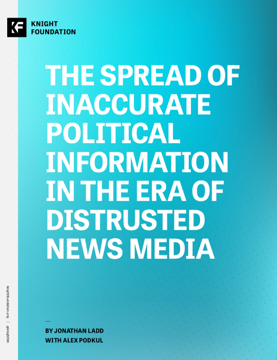 The spread of inaccurate political information in the era of distrusted news media