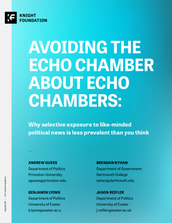 Avoiding the Echo Chamber about Echo Chambers