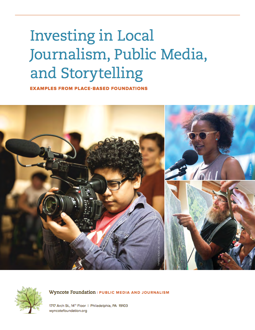 Investing in Local Journalism, Public Media, and Storytelling